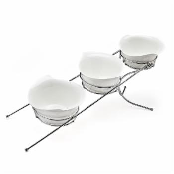 Godinger Natura 3 Tier Bowl Server