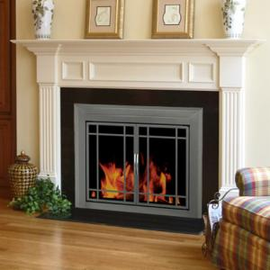brick material mesh fireplace door wall screen fireplaces designs black pleasant hearth