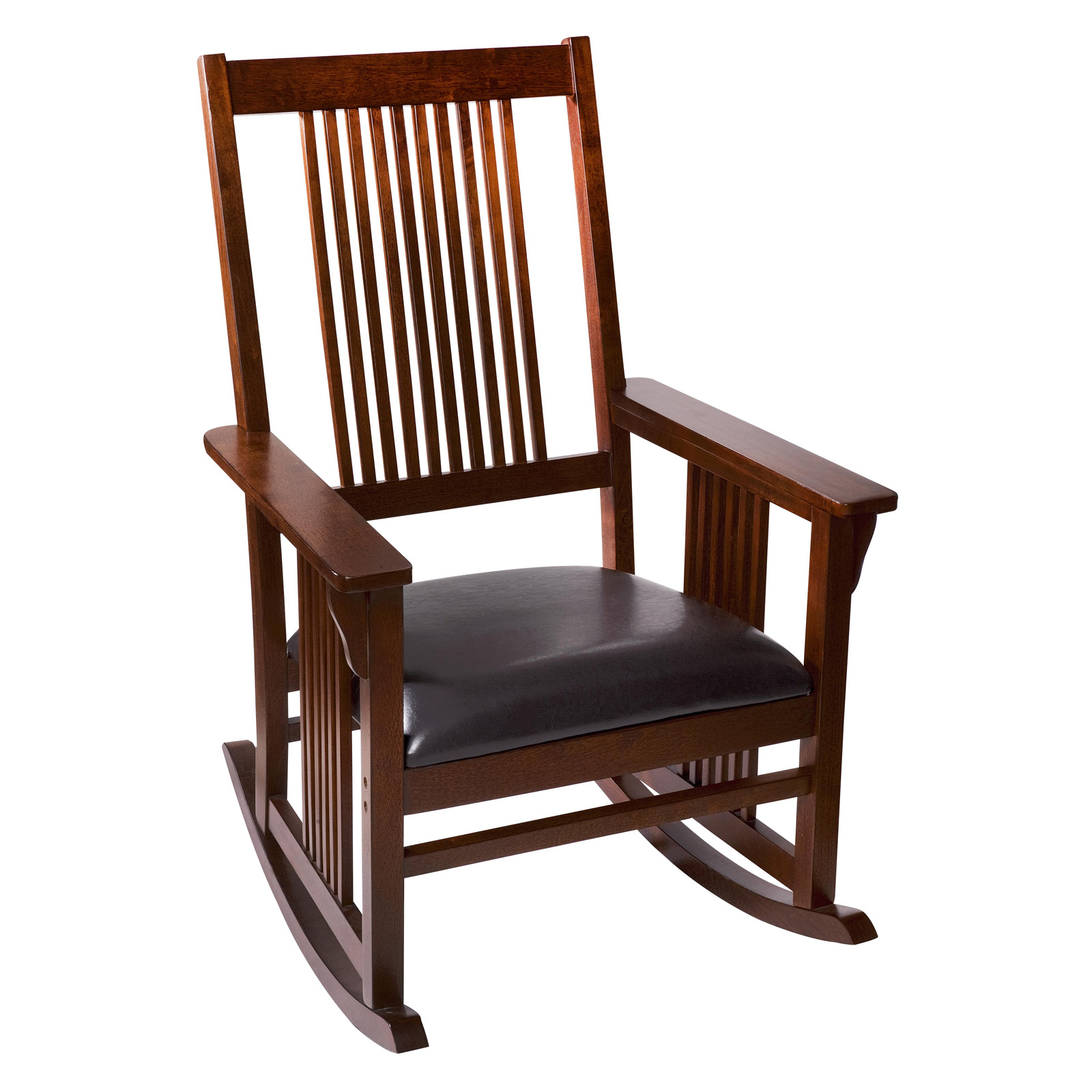 Gift Mark Mission Style Wooden Rocking Chair With Upholstered Seat |  Hayneedle