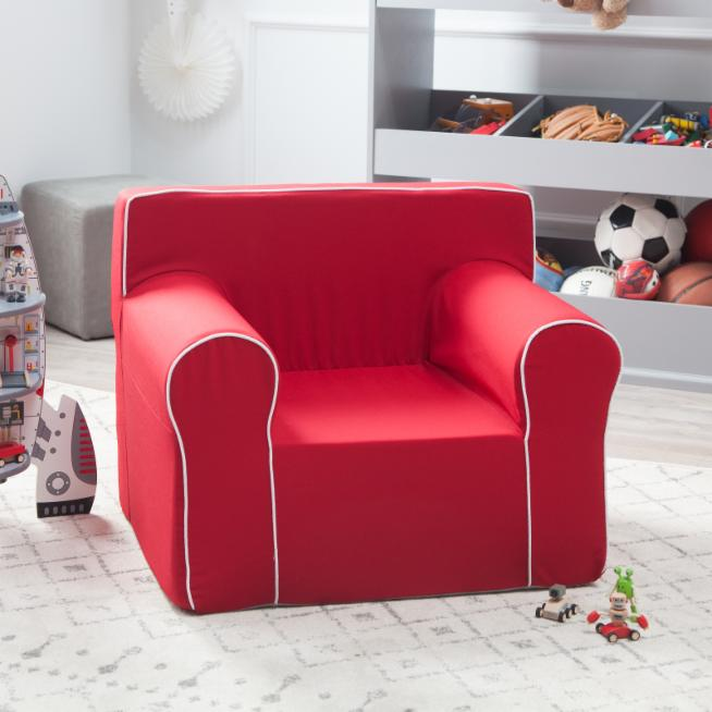 Miraculous Here And There Kids Chair Red Canvas Theyellowbook Wood Chair Design Ideas Theyellowbookinfo