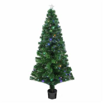 Northlight 4 ft. Pre Lit LED Color Changing Fiber Optic Christmas Tree with Star Tree Topper