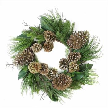 Northlight 28 in. Mixed Pine with Pine Cones Unlit Christmas Wreath