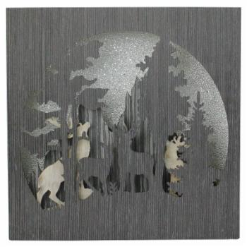 Northlight Glittered Winter Woodland Deer Christmas Shadow Box Table Decoration