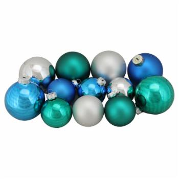 Northlight 96 Piece Shiny and Matte Glass Ball Christmas Ornament Set