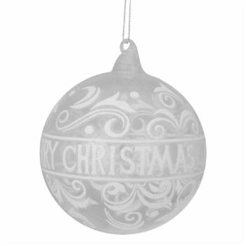 Northlight Merry Christmas Glass Ball Ornament