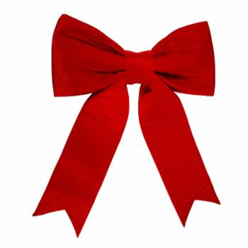 Dyno 2 Loop Red Velveteen Christmas Bow Decoration