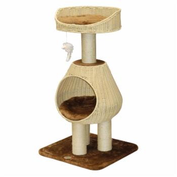 Go Pet Club 40 in. Handcrafted PE Rattan Wicker Cat Tree