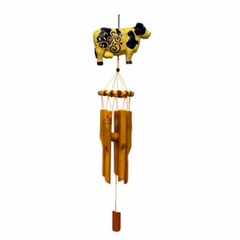 Great World Cow Bamboo Wind Chime