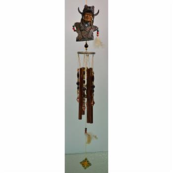 Great World Warrior Wolf Indian Wind Chime