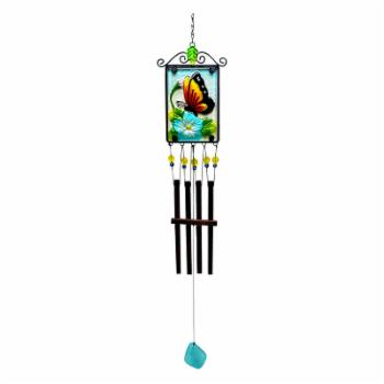 Great World 33 in. Butterfly Wind Chime