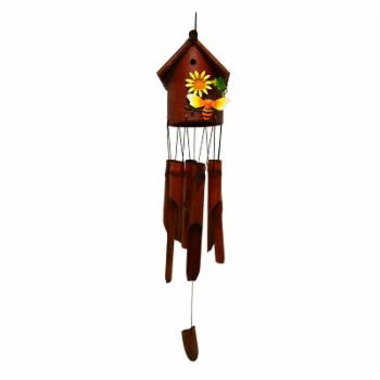 Great World Bee Bamboo Bird House Wind Chime