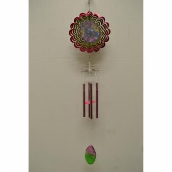 Great World Two Butterflies Wind Chime with Spinner