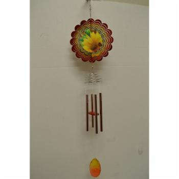 Great World Lady Bug Wind Chime with Spinner