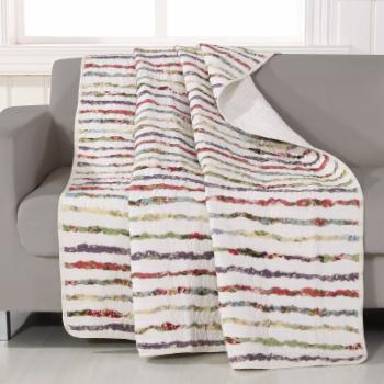 Greenland Home Fashions Bella Ruffle Quilted Throw