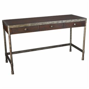 Hammary Structure 2-Drawer Computer Desk - Heavily Distressed Brown