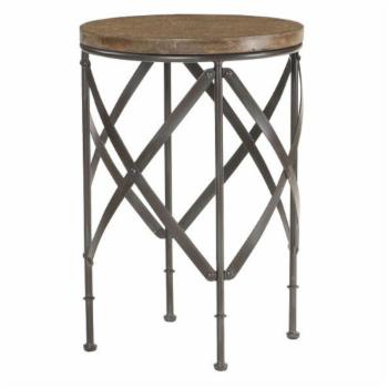 Hammary Furniture Co. Hidden Treasures Round Metal End Table