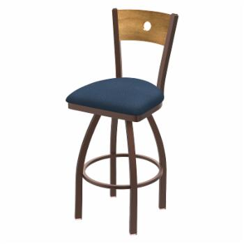 Holland Bar Stool Co Voltaire Metal 36 in. Extra Tall Swivel Bar Stool with Faux Leather Seat