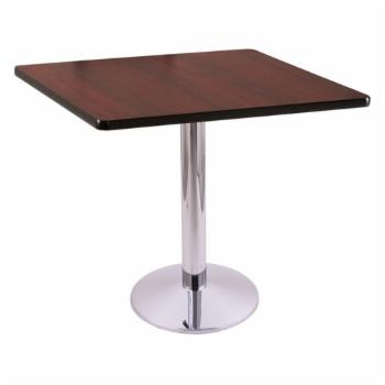 Holland Bar Stool Co 30 214 Chrome Dining Table with Square Top