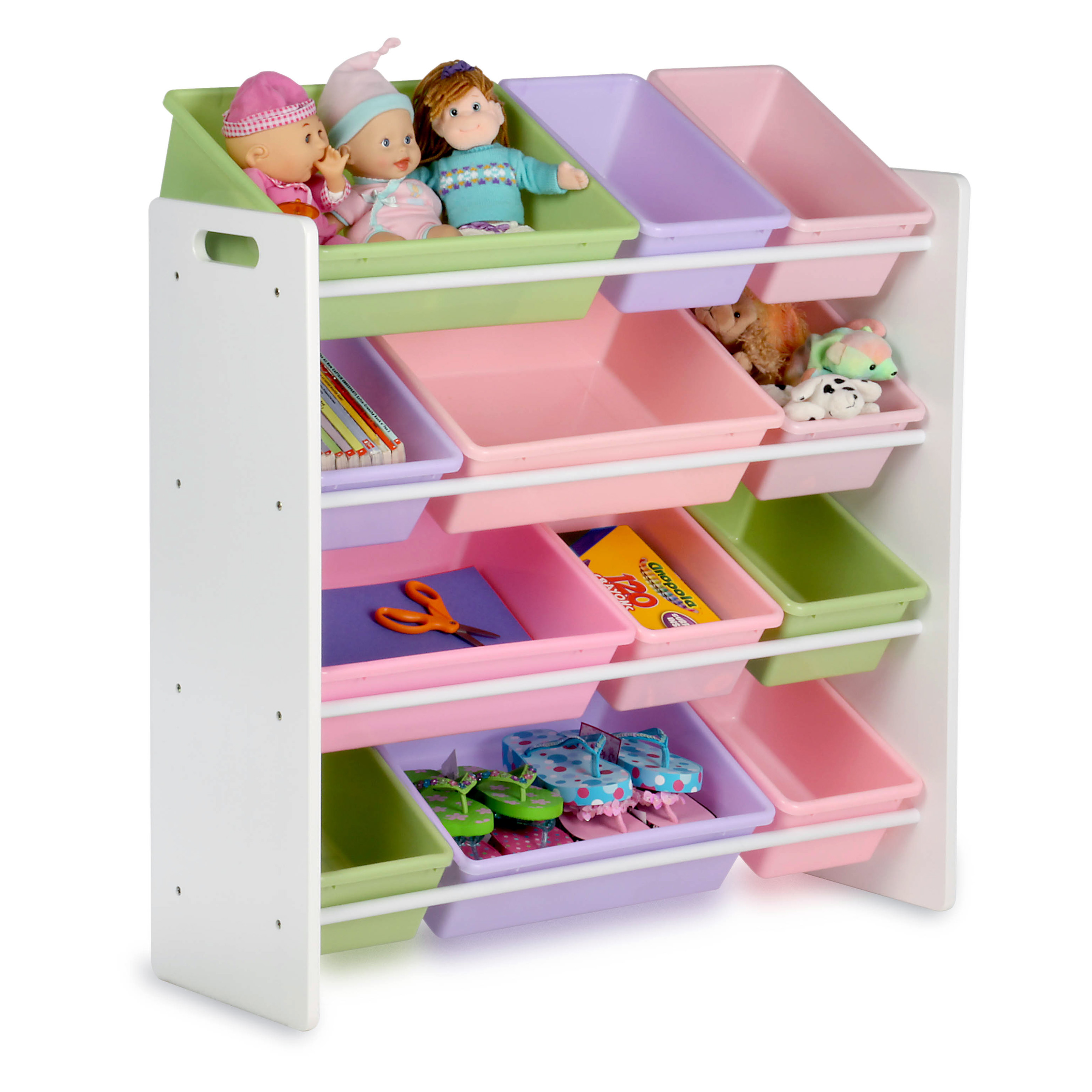 Honey Can Do Kids Storage Organizer   12 Bins   White