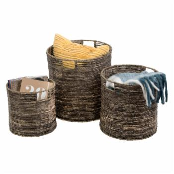 Honey Can Do Coastal Collection Maize Nesting Storage Bins - Set of 3