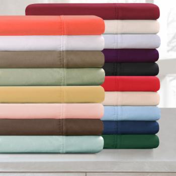 Superior Long-Staple Combed Cotton 300 Thread Count Sateen Weave Pillowcase Set