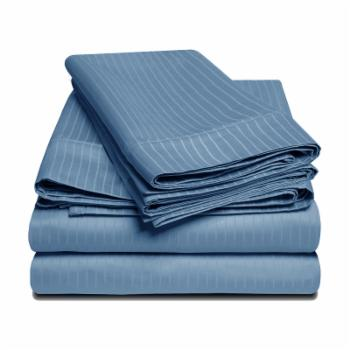 1000 Thread Count Egyptian Cotton Stripe Sheet Set by Superior