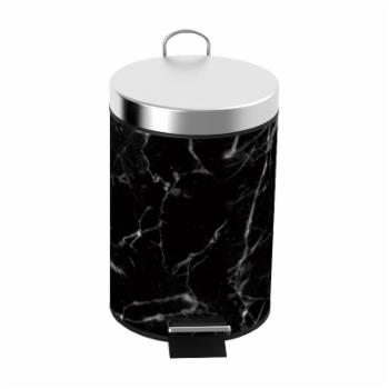 Home Basics Faux Marble Step Waste Bin