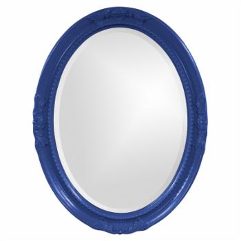 Elizabeth Austin Queen Ann Royal Blue Mirror - 25W x 33H in.