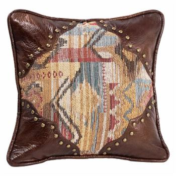HiEnd Accents Square Pillow with Scalloped Corners