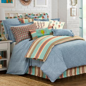 Chambray Comforter Set by HiEnd Accents