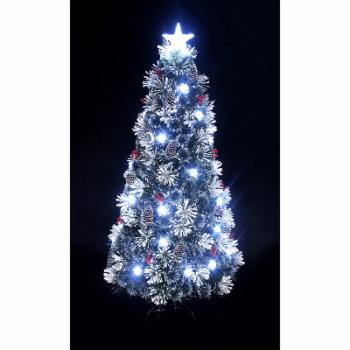 Hi-Line Gift Ltd. Fiber Optic Green Christmas Tree with Cones and Berries
