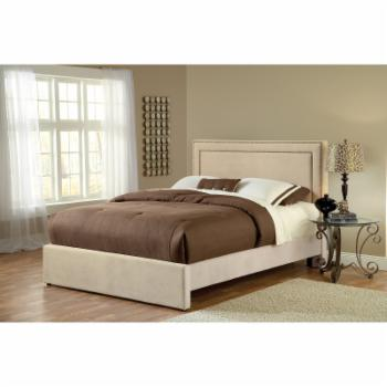 Hillsdale Amber Upholstered Low Profile Bed - Buckwheat
