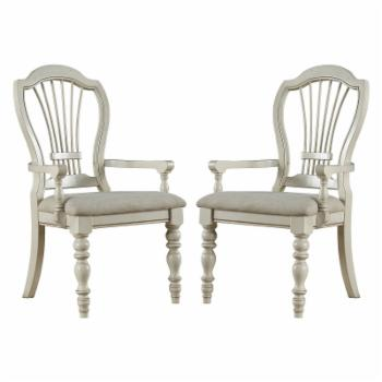 Hillsdale Pine Island Wheat Back Arm Chair - Set of 2