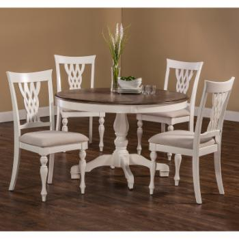 Hillsdale Bayberry / Embassy 5 Piece Round Dining Table Set