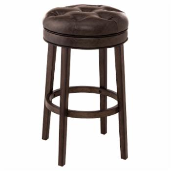 Hillsdale Krauss Backless Swivel Bar Stool - Gray Faux Leather