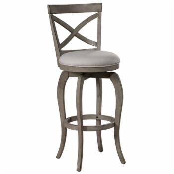 Hillsdale Furniture Ellendale Aged Gray Swivel 31 in. Bar Height Stool