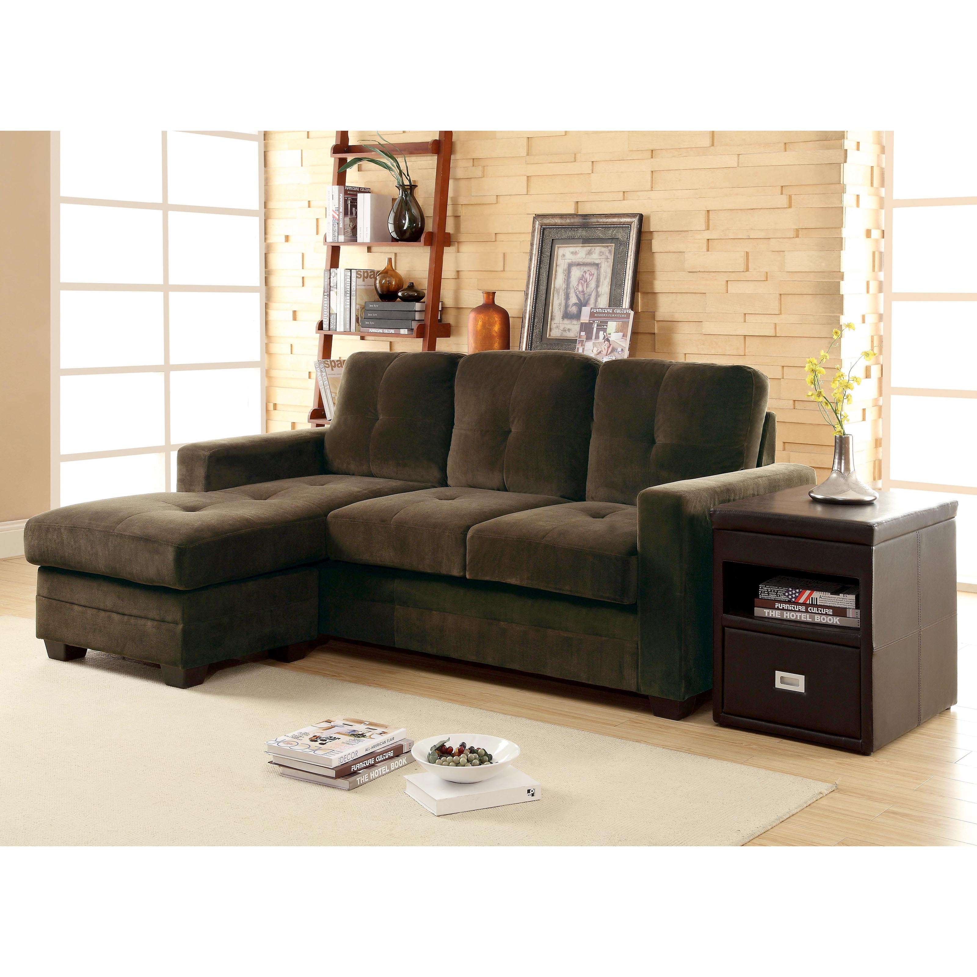 Phelps Sectional Sofa with Chaise Brown