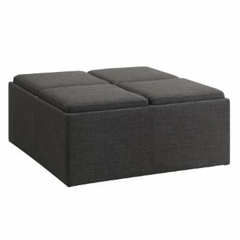 Weston Home Solid Storage Ottoman