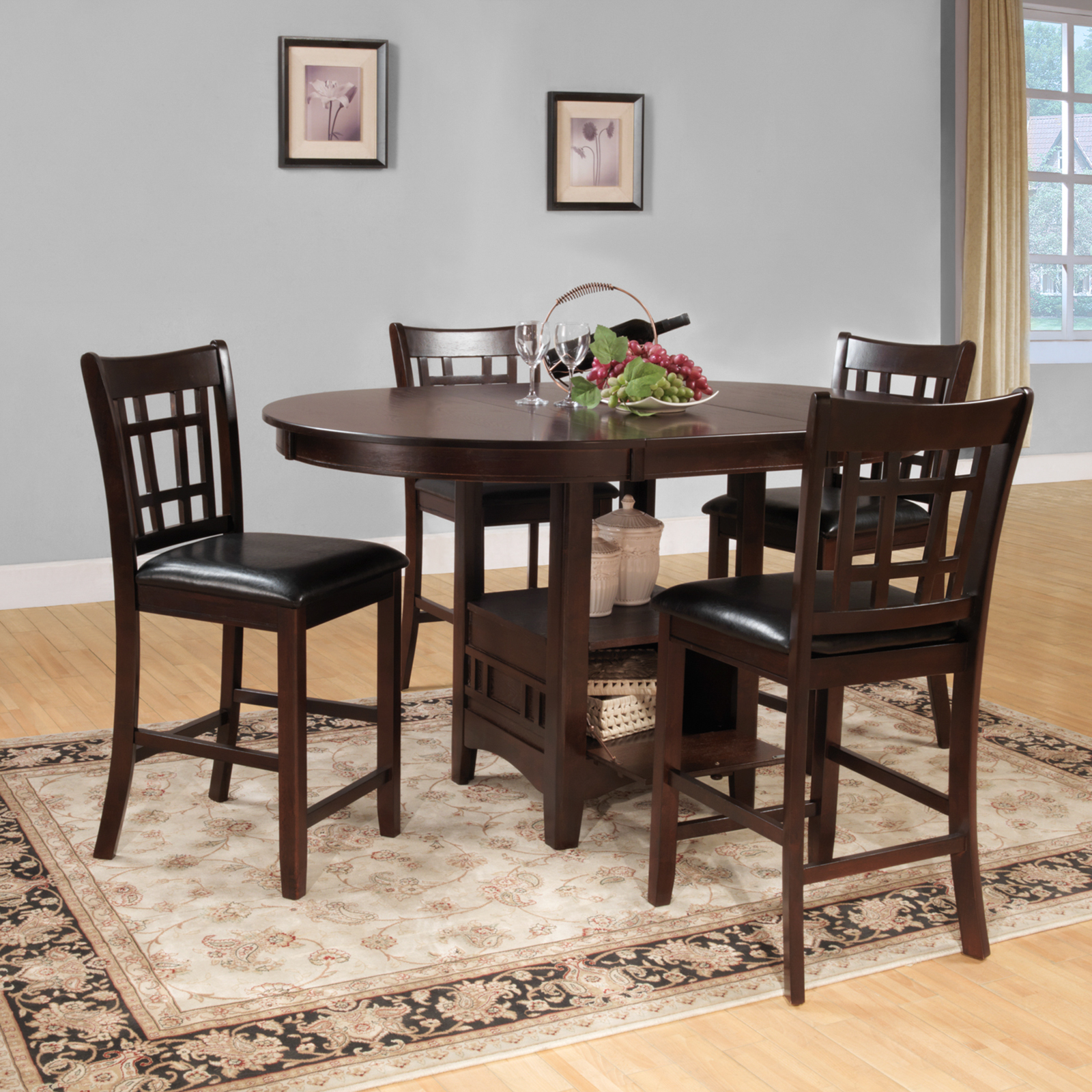 Weston home junipero 5 piece counter height dining table set cherry hayneedle