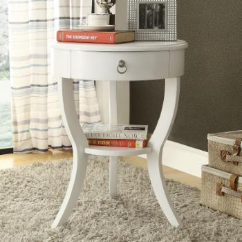 Weston Home Round Single Drawer Side Table