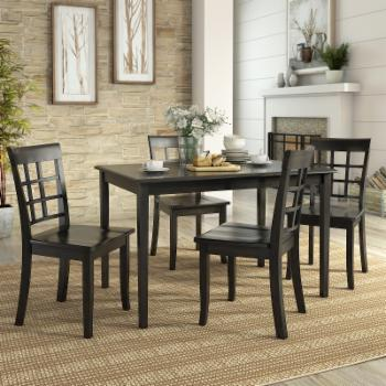 Weston Home Lexington 5 Piece Dining Set with Window Back Chairs