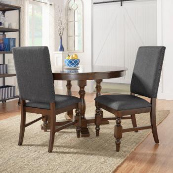 Weston Home Patterson Linen Dining Side Chair - Set of 2
