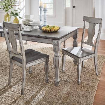 HumbleNest Farmers Market Distressed Two Tone Dining Side Chair - Set of 2