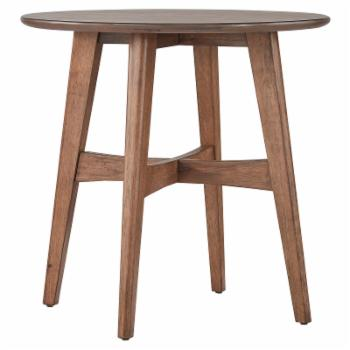 Weston Home Carole Round Wood Modern End Table
