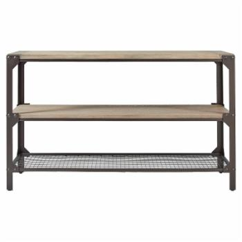 Weston Home Ramona Industrial Wood and Iron Console Table