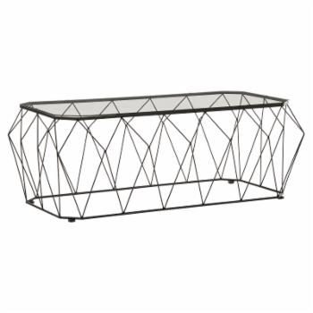 Weston Home Dara Coffee Table with Glass Top