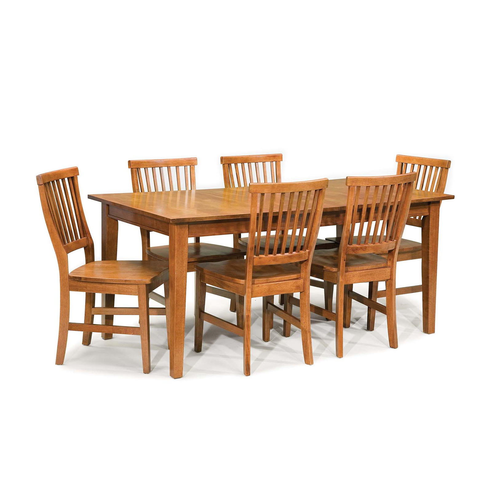 Home Styles Monarch 7 Piece Dining Table Set with 6 Double X-Back Chairs - White \u0026 Oak | Hayneedle  sc 1 st  Hayneedle : 7 piece dining table set - pezcame.com