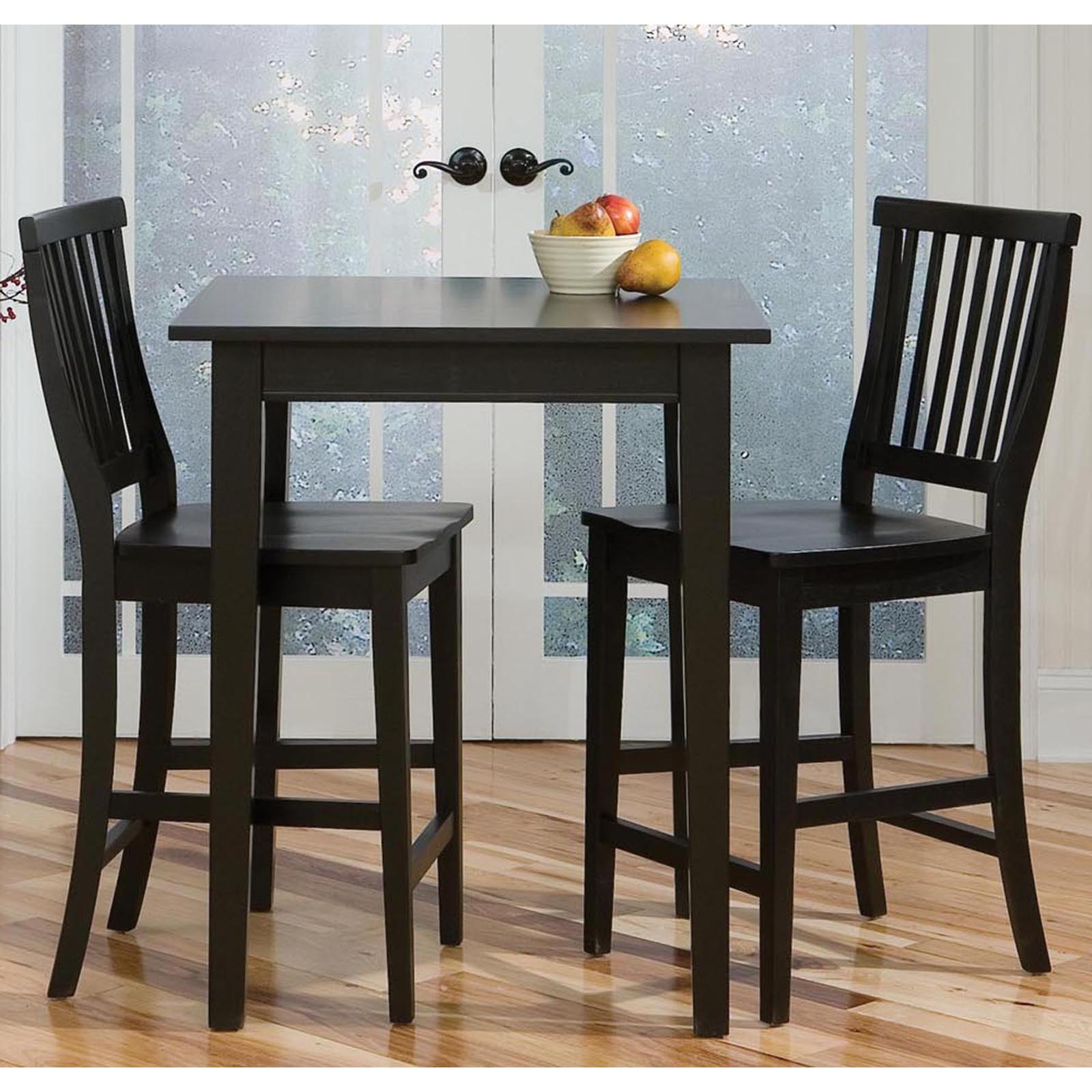 Home Styles Arts U0026 Crafts 3 Piece Counter Height Pub Table Set   Ebony