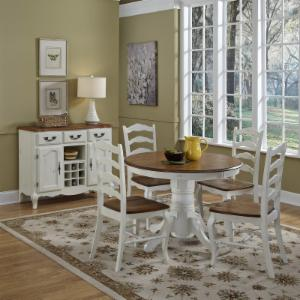 Home styles kitchen dining table sets hayneedle home styles the french countryside oak and rubbed white 5 piece dining set watchthetrailerfo