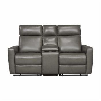 Home Styles Nuovo Power Motion Reclining Loveseat with Console